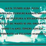 A.C.S. Yusho Alba Iulia organizează cursuri de karate